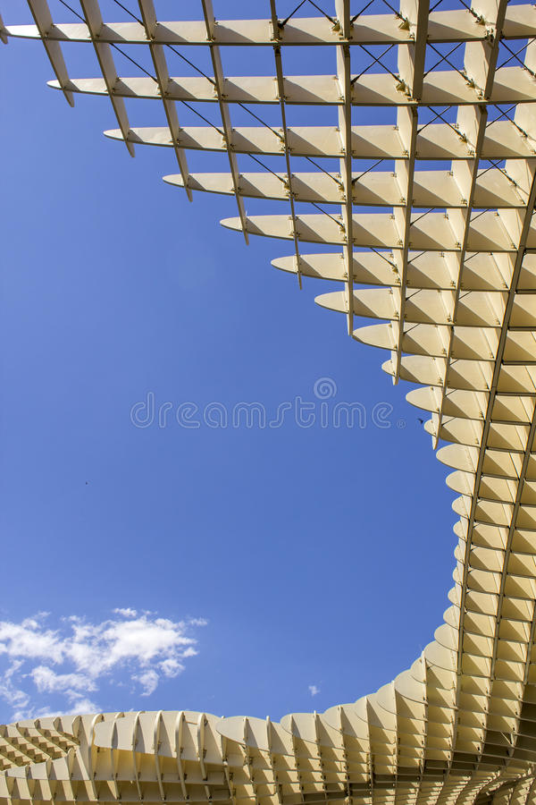 Texture graphic detail of Metropol Parasol in Plaza de la Encarnacion on 31 of May 2014 in Sevilla,Spain. stock images