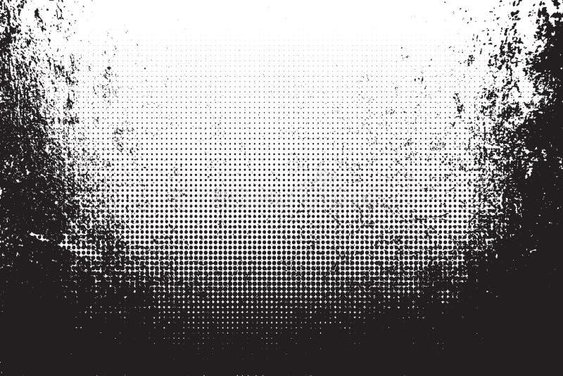 Texture grunge avec l'image tramée Illustration de vecteur illustration de vecteur
