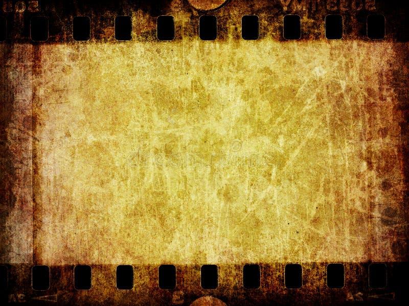Texture grunge de fond de négatif sur film illustration libre de droits