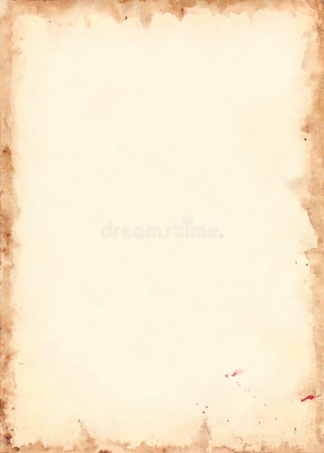 Texture grunge de fond de rétro feuille de papier de vintage illustration libre de droits