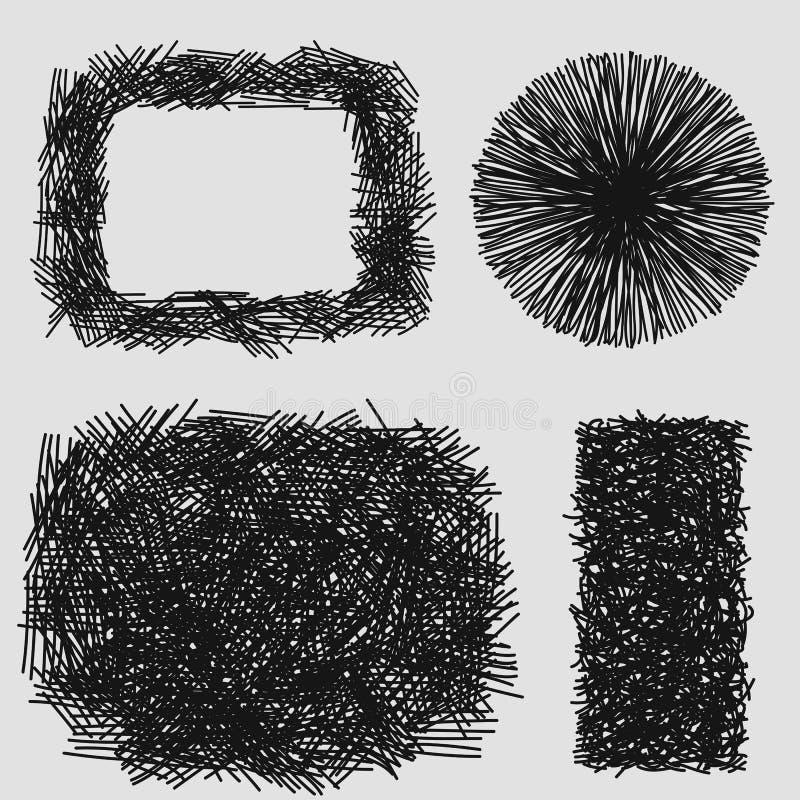Texture grunge de hachure approximative tirée par la main de croquis illustration de vecteur