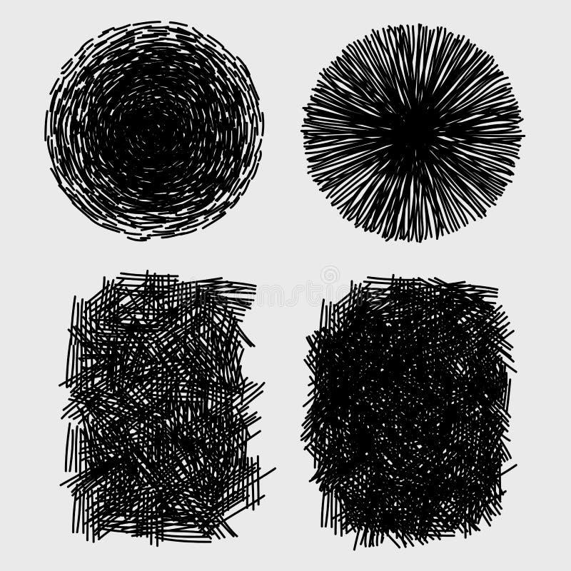 Texture grunge de hachure approximative tirée par la main de croquis illustration stock