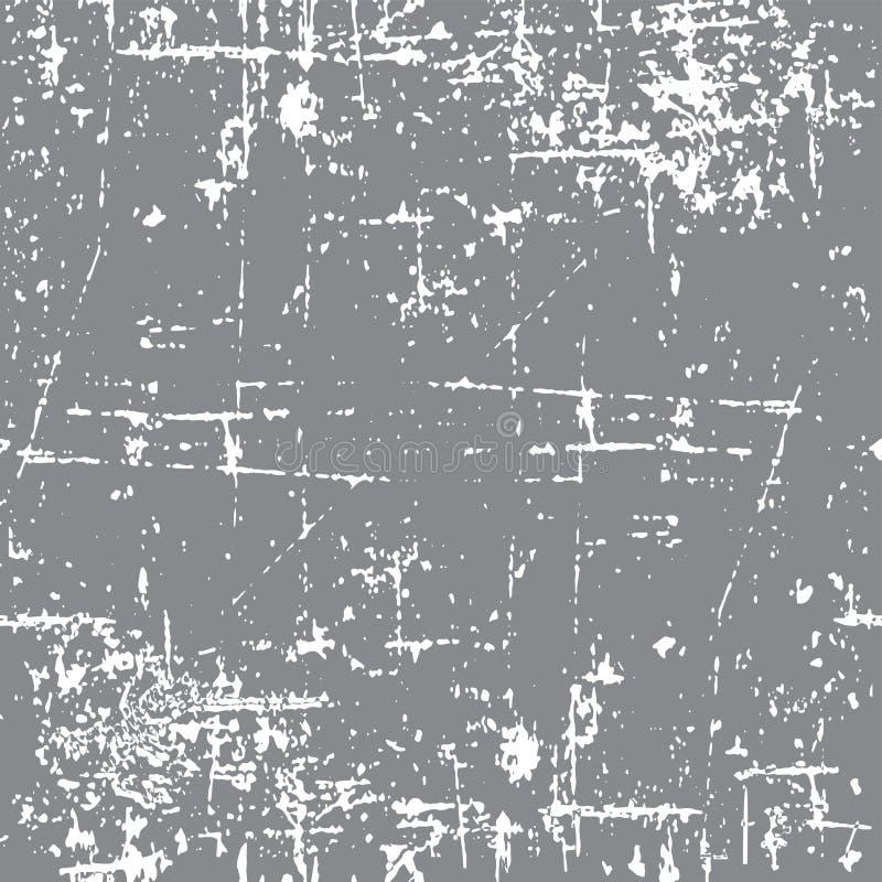 TEXTURE GRUNGE DE MONOCHROME D'ÉRAFLURE MODÈLE SANS COUTURE SALE DE VECTEUR photo libre de droits