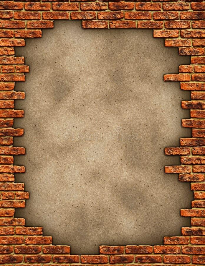 Texture grunge de mur de briques photos stock