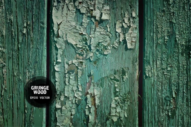 Texture grunge en bois Vieux fond en bois normal illustration stock