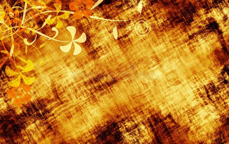 Texture grunge florale illustration stock
