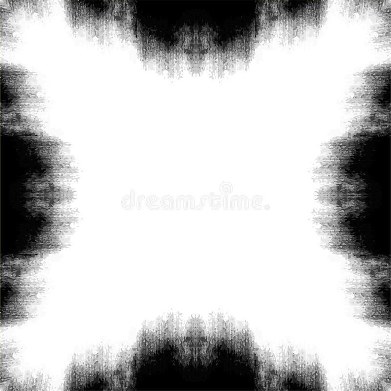 Texture grunge monochrome Fond abstrait noir et blanc pour la conception illustration de vecteur