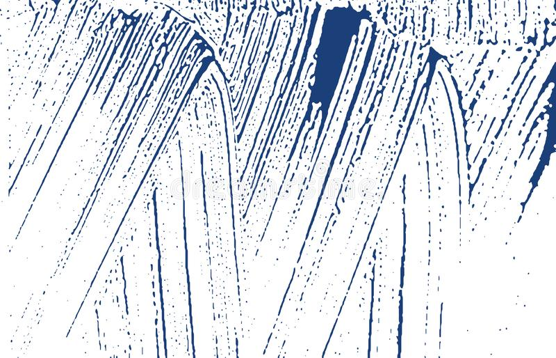 Texture grunge Trace approximative d'indigo de détresse Ecsta illustration libre de droits