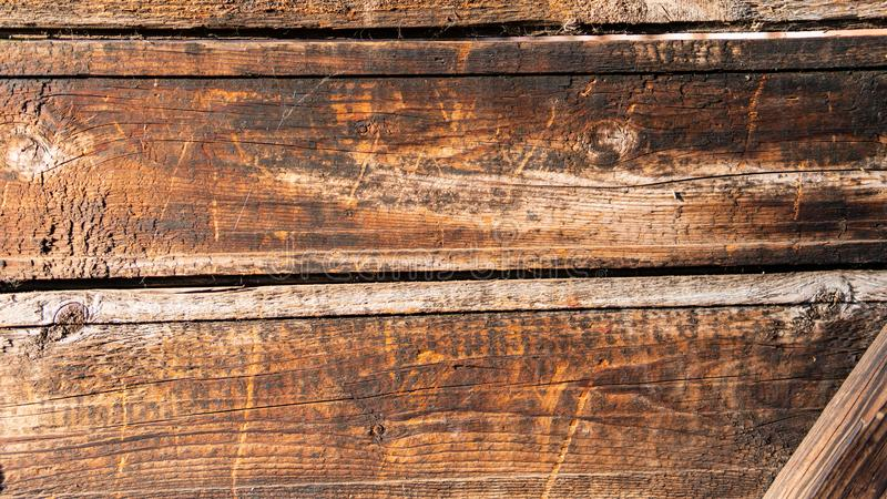 Texture of handmade wooden fence brown royalty free stock photo