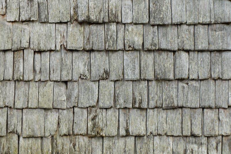 Texture haute étroite superficielle par les agents traditionnelle de bardeaux en bois photo stock