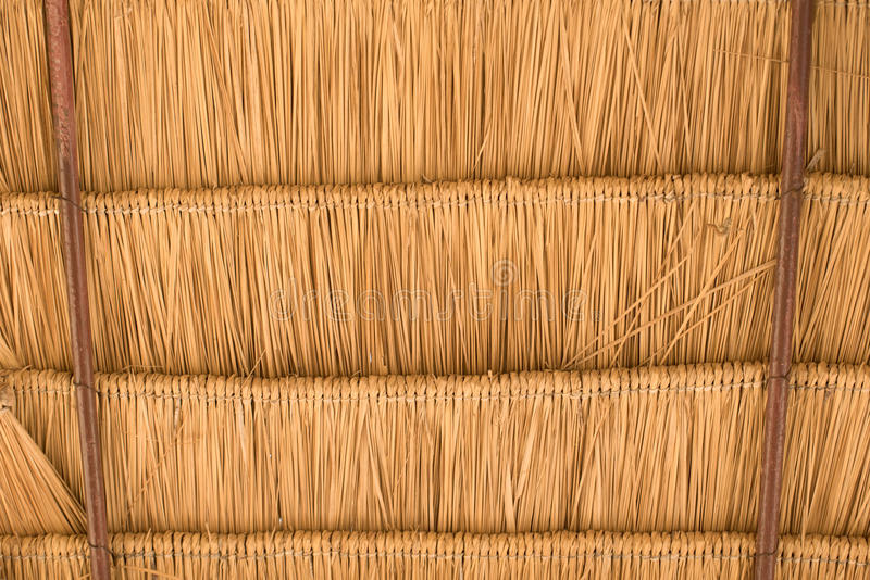 Texture of hay stack roof. stock photos