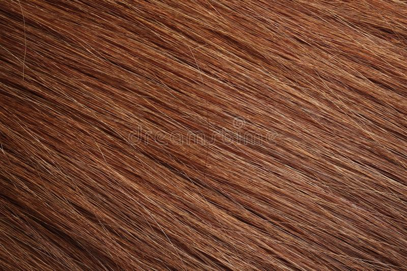 Texture of healthy red hair as background. Closeup royalty free stock images