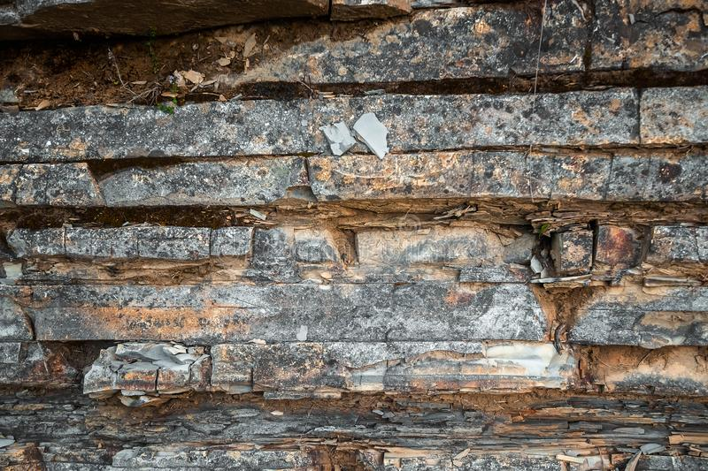 The texture of hewn stone, the edge of the destroyed rock.  stock images