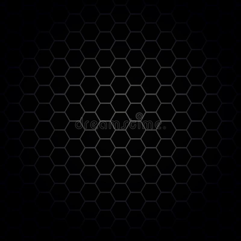 Texture hexagonale de cellules, nid d'abeilles, gril de haut-parleur illustration de vecteur