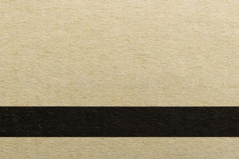 Texture of horizontal black line on brown cover paper, abstract pattern background stock photo