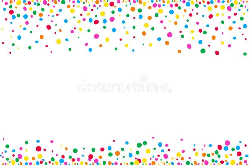 Texture horizontale des points et des confettis colorés illustration de vecteur