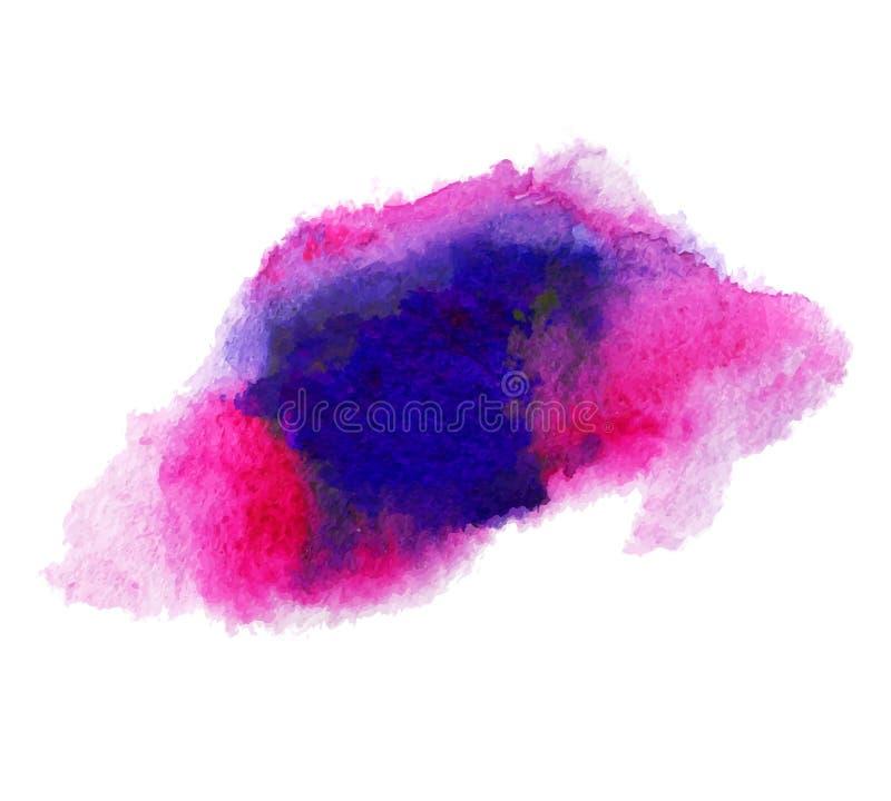 Texture humide de tache d'aquarelle d'isolement par résumé illustration stock