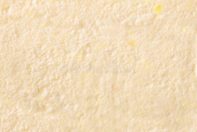 Texture of ice cream vanilla top. Texture of ice cream vanilla close up. Top view. Horizontal composition stock images