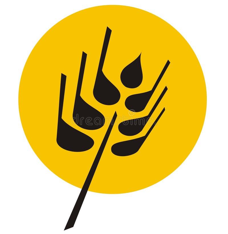 Texture - illustration de blé illustration stock