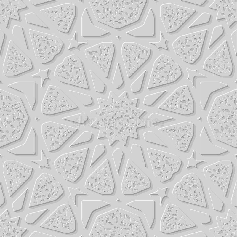 Texture imprimée par pierre unique islamique de modèle Fond sans joint oriental illustration libre de droits