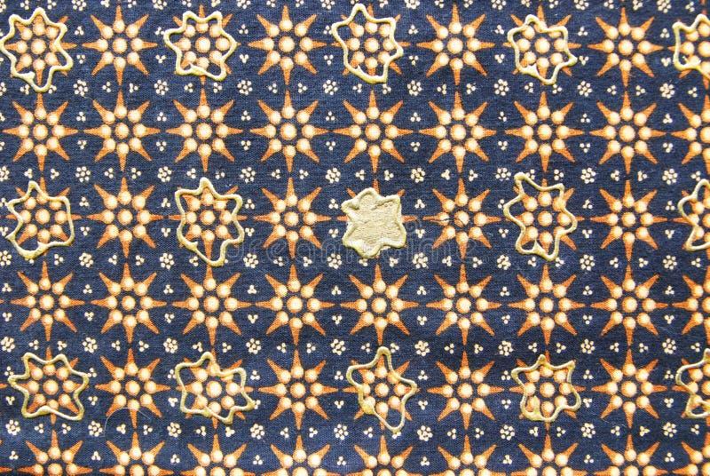 Texture indonésienne de sarongs photographie stock