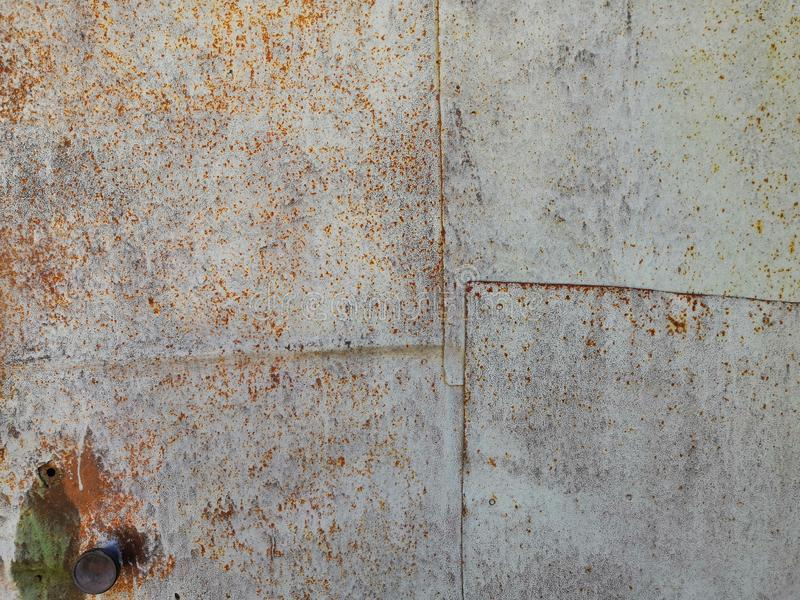 Rusty red gray iron wall texture background stock photos