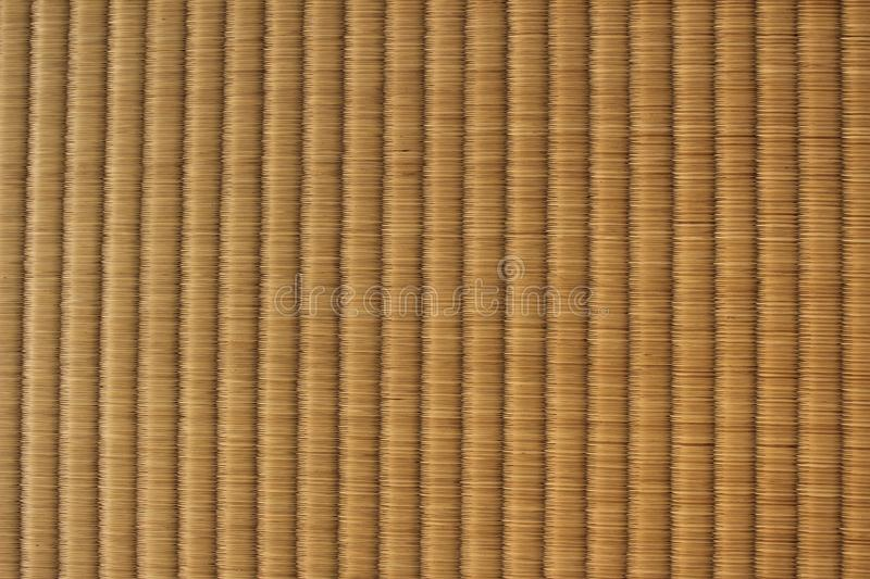 Texture of Japanese tatami mat. The top view of a woven traditional Japanese tatami mat royalty free stock photo