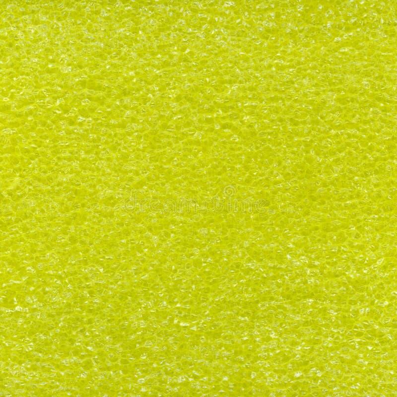 Texture jaune de mousse en plastique photos stock
