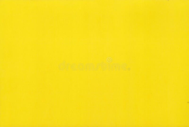 Texture jaune de papier de mousse de couleur pour le fond ou la conception photographie stock libre de droits