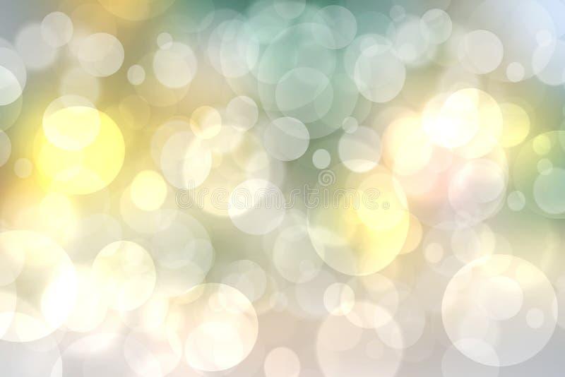 Texture jaune en pastel sensible légère de fond de bokeh de turquoise d'été vif frais de ressort brouillée par résumé avec la cir image libre de droits