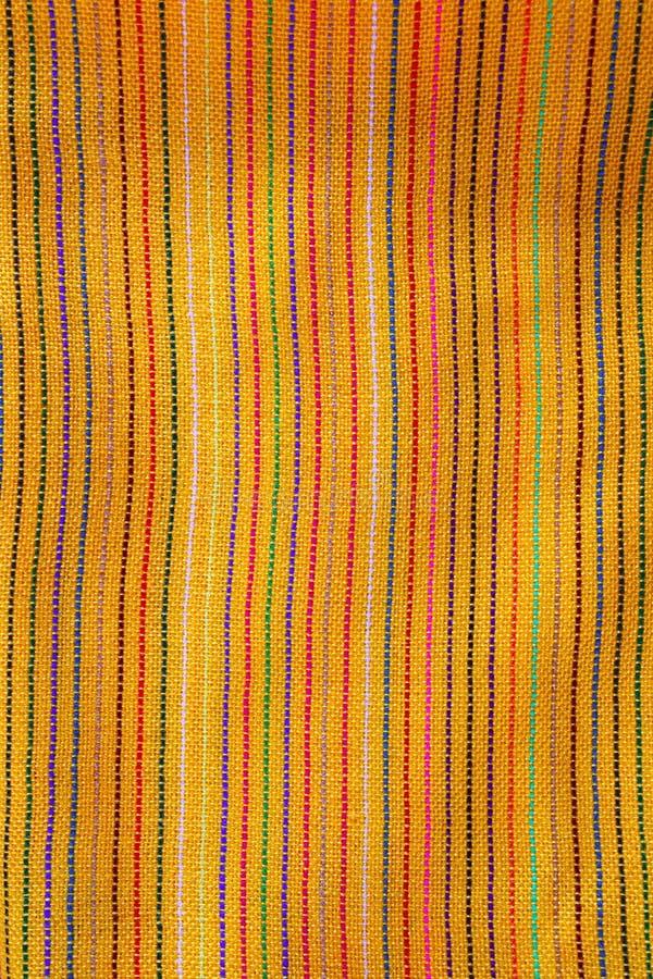 Texture jaune vibrante de tissu de serape mexicain macro photographie stock