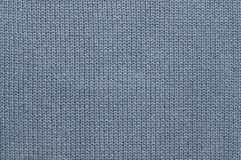 Texture Of Knitted Gray-blue Woolen Fabric Stock Photo - Image of ...