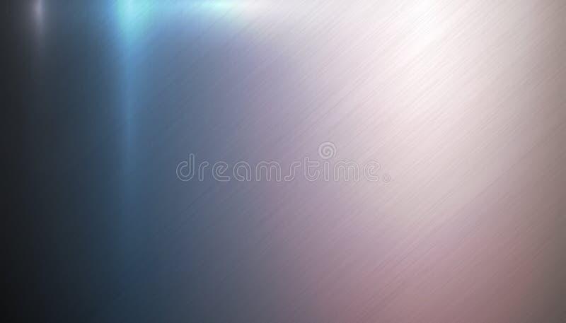 Texture légère colorée polie de fond en métal illustration stock