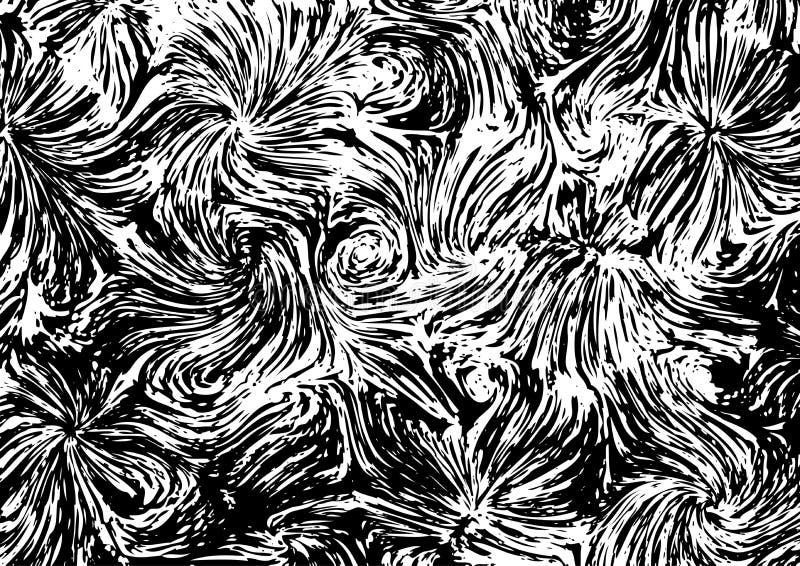 Texture a la Vincent van Gogh. Abstract black and white texture a la Vincent van Gogh royalty free illustration