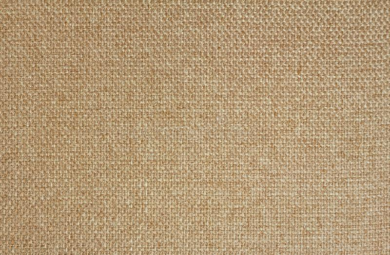 Texture of light beige fabric Matting. Close up.  stock image