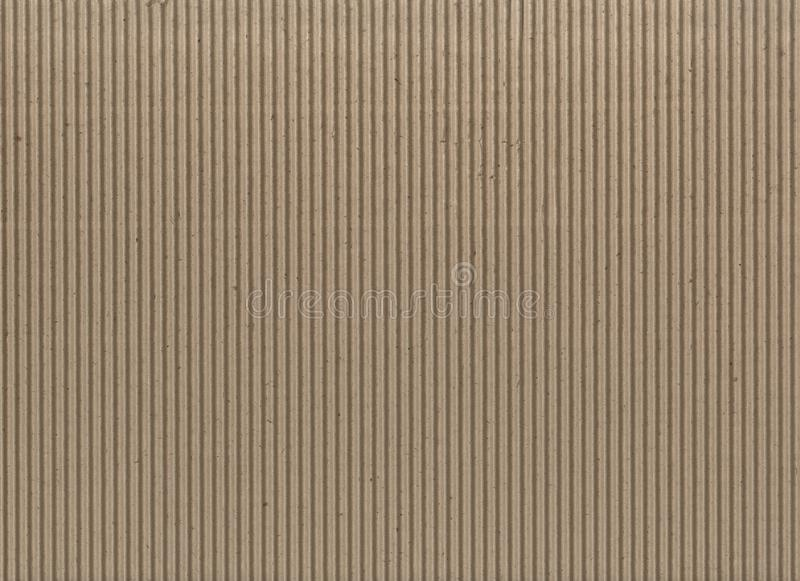 Texture - light brown corrugated cardboard. Seamless Cardboard Texture With Corrugated Crease Line. Light brown cardboard background, corrugated paper texture royalty free stock images