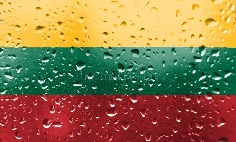 Texture of flag Lithuania stock photo