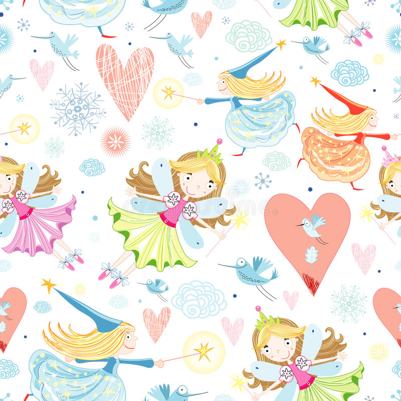Download Texture With Little Fairies Stock Vector - Image: 21845128