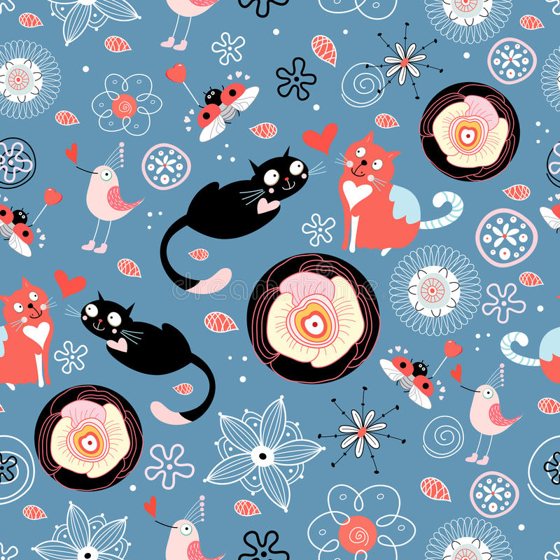 Download Texture Love Cats Royalty Free Stock Images - Image: 18272119