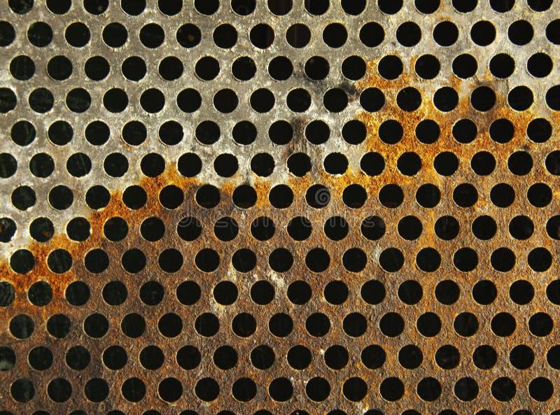 Texture métallique de grillage images libres de droits
