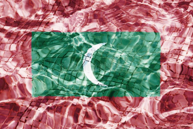 Flag of Maldives texture royalty free stock images