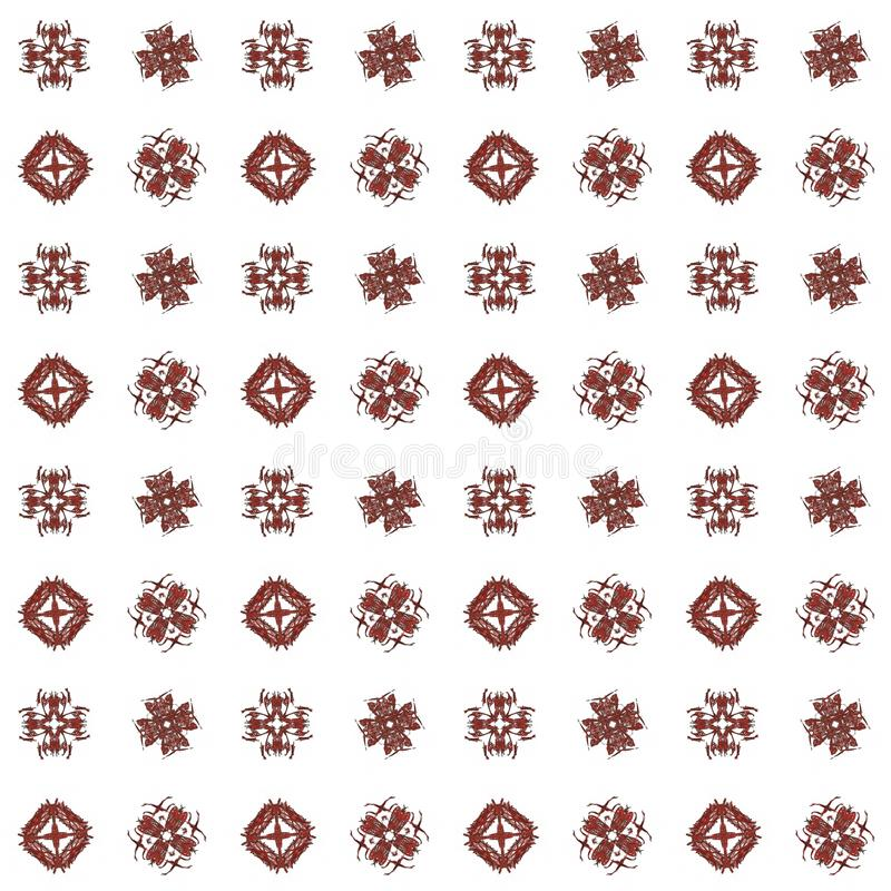 Texture with maroon rendering abstract fractal pattern.  stock illustration