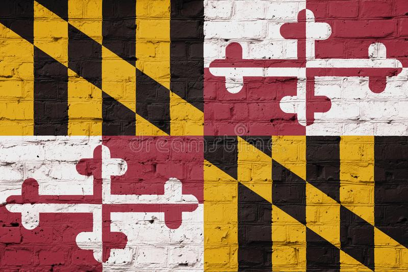Texture of Maryland flag royalty free stock photos