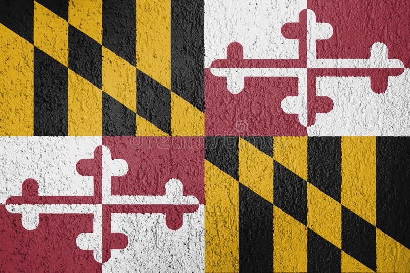 Texture of Maryland flag. royalty free stock images