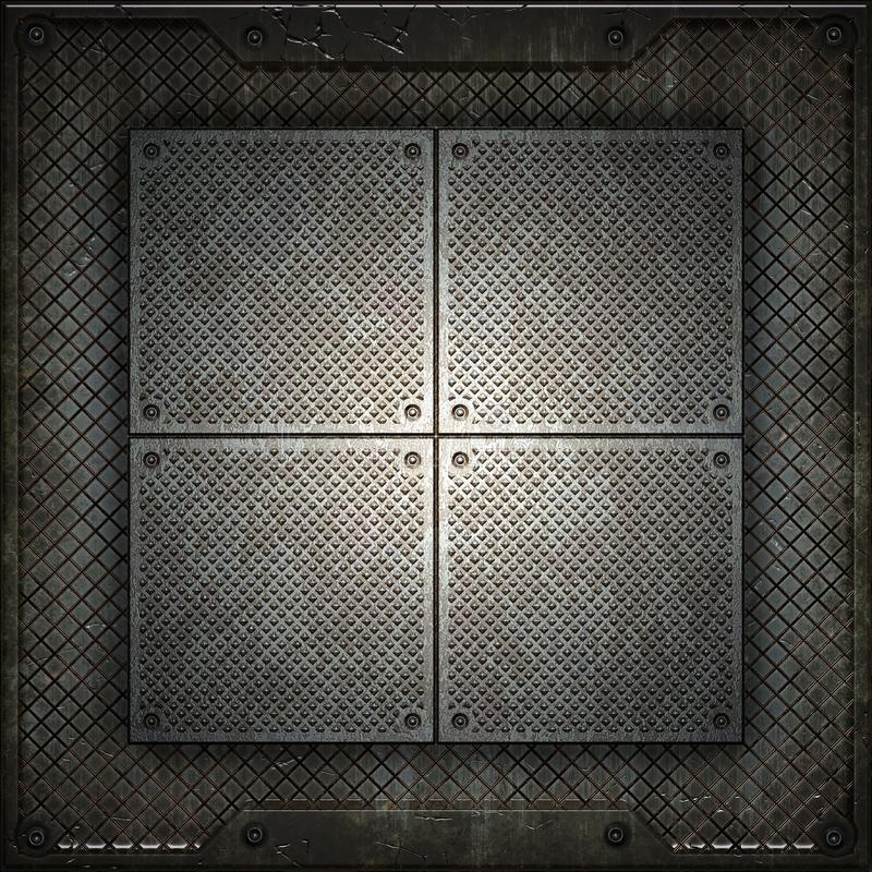 Texture of metal. There is a place for the inscription vector illustration