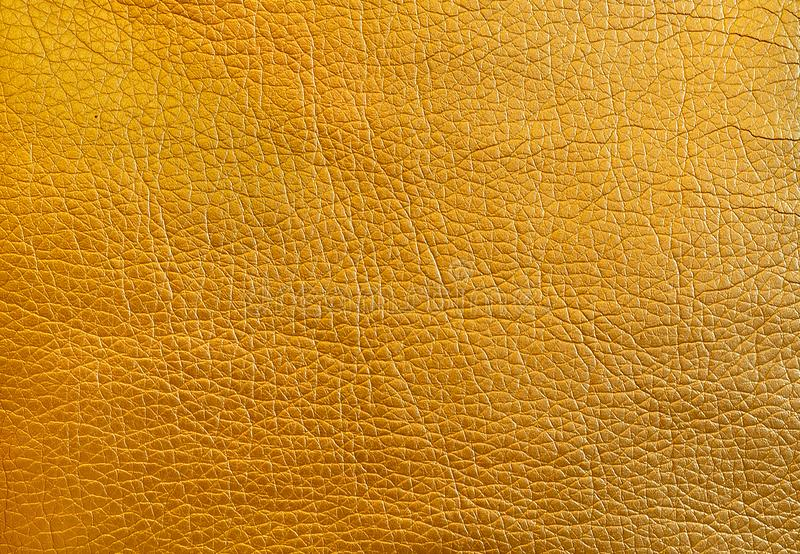 Texture metallic gold leather as a background. close up royalty free stock photography