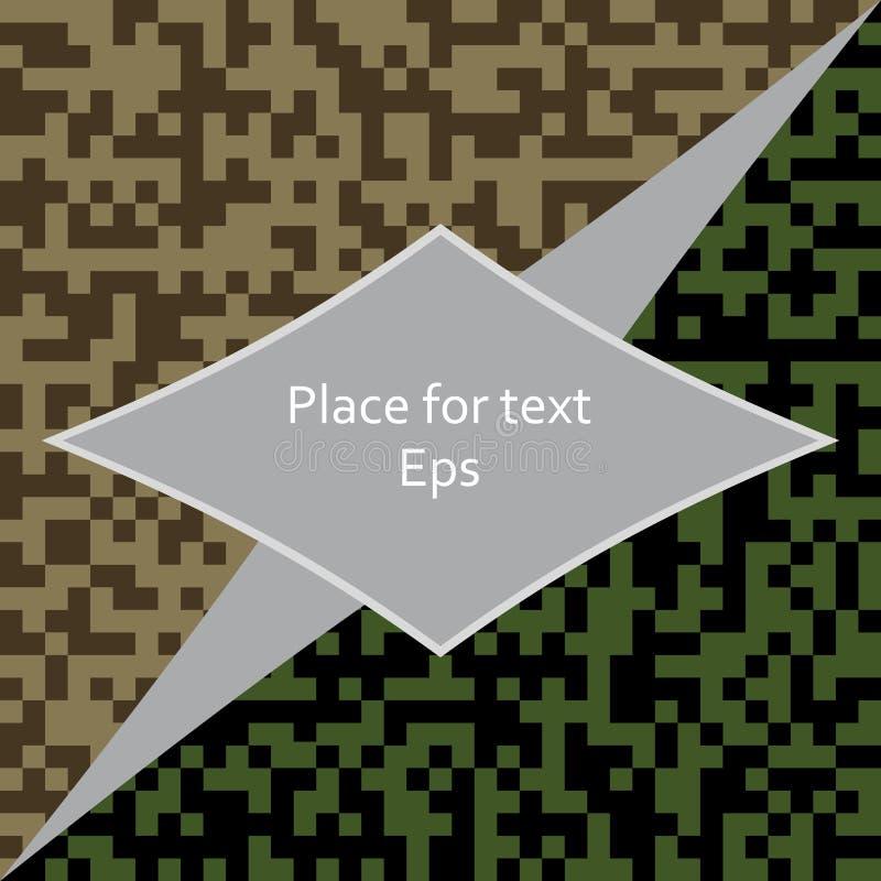 Texture militaire avec l'espace pour le texte Bannière de camouflage Fond du ` s de chasseur Jour de défenseur de patrie Illustra illustration de vecteur