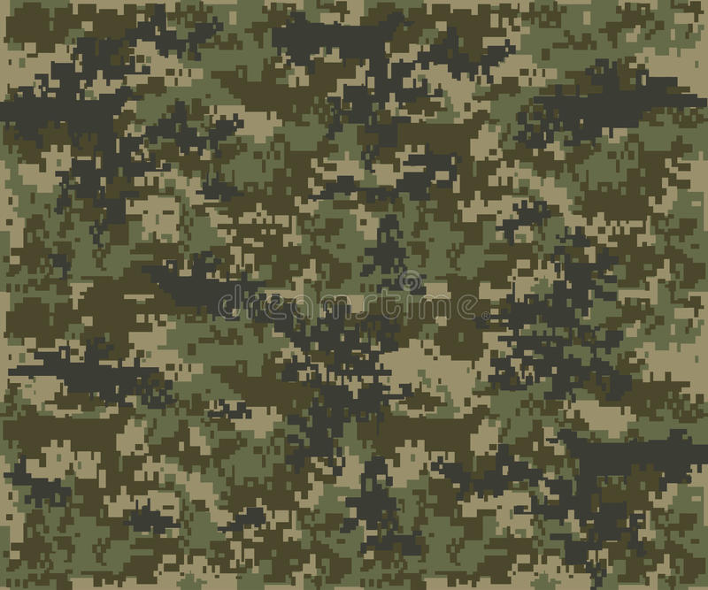 Texture military camouflage repeats seamless army stock illustration