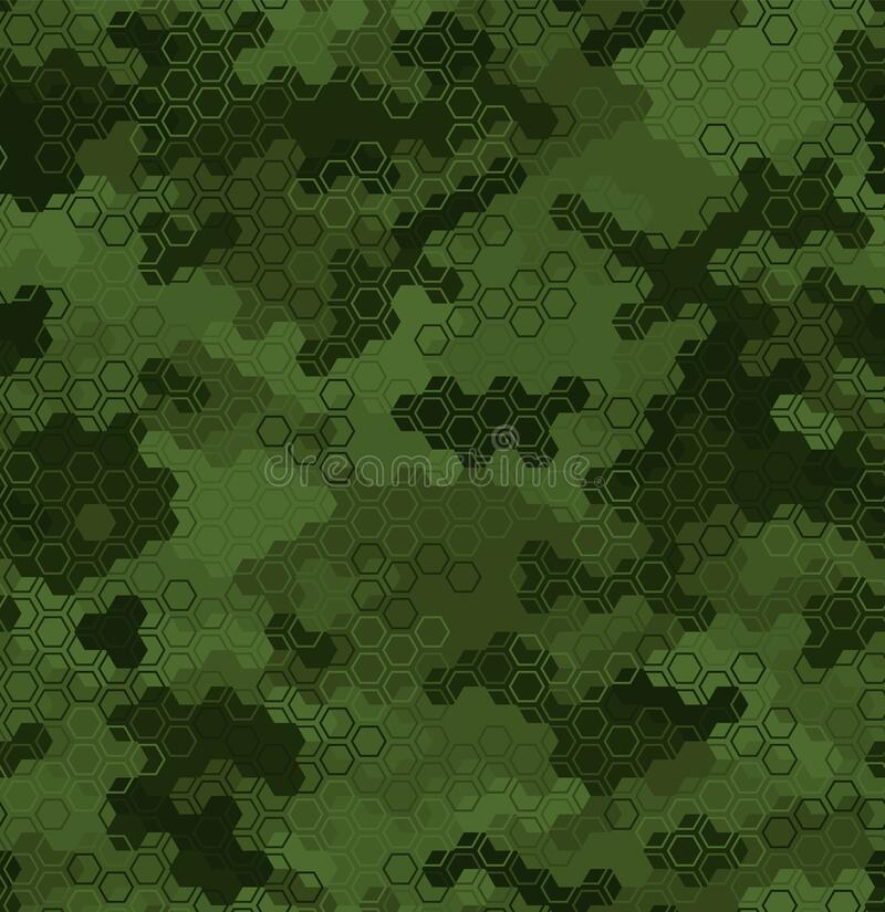 Free Texture Military Camouflage Seamless Pattern. Abstract Army Vector Illustration Royalty Free Stock Photos - 188424108