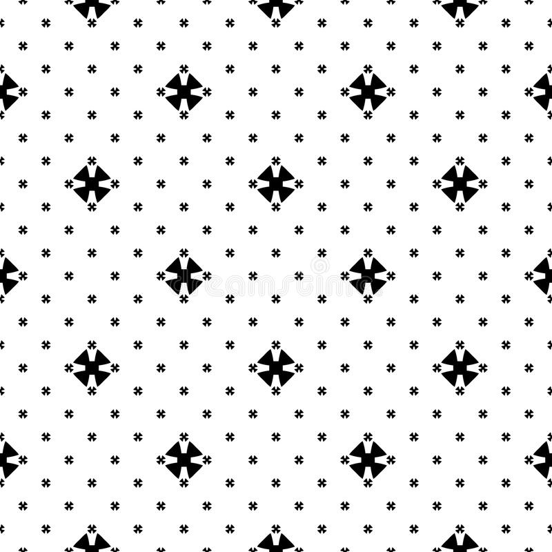 Texture minimaliste de modèle, noire et blanche sans couture illustration de vecteur
